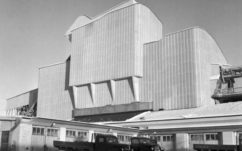 A.Ahlström Osakeyhtiön Varkauden purettu saharakennus 1948