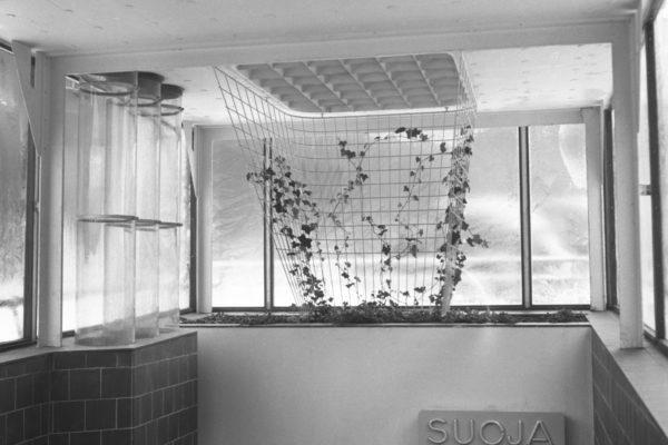 Erottajan väestönsuojan sisäänkäynti 1950-1951 kuva Alvar Aalto säätiö