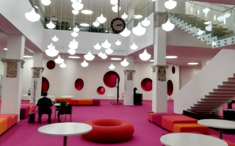 Otaniemi library renovation with colours