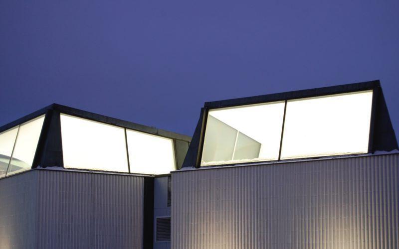 Rovaniemi kirjaston kattoikkunat