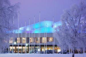 Wintery Lappia Hall in Rovaniemi photo City of Rovaniemi