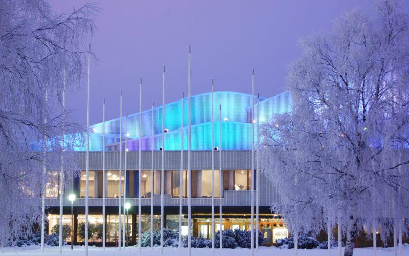 Wintery Lappia Hall in Rovaniemi photo City of Rovaniemi