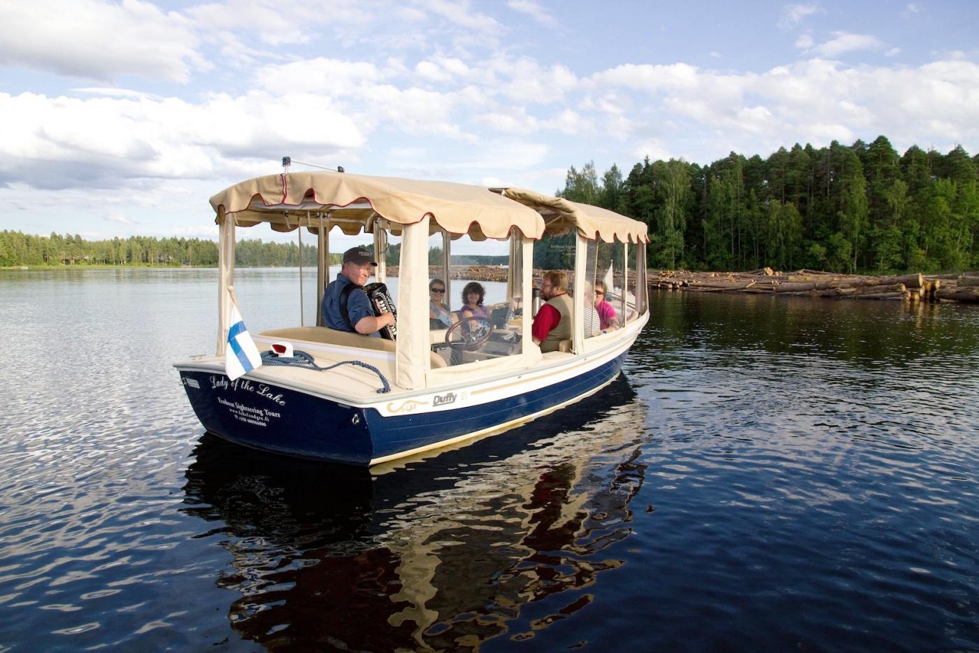 Lake Saimaa tour on Electric Boat Lady Of The Lake photo Anssi Toivanen