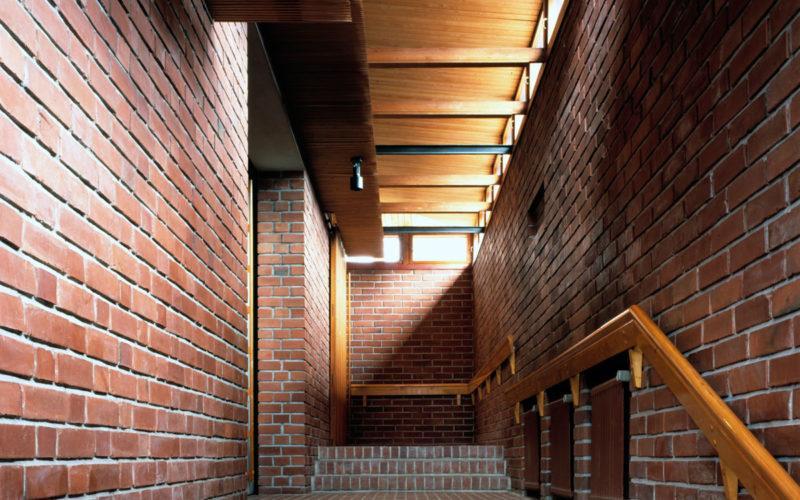 Säynätsalo Town Hall stairs in Jyväskylä, photo Rune Snellman Alvar Aalto Museum