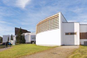 Библиотека Аалто и Городской театр в Центре Аалто в Сейняйоки. Фото: Катья Лесенен