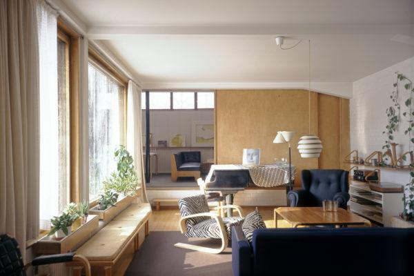 The Aalto House living room. Photo: Maija Holma, Alvar Aalto Foundation