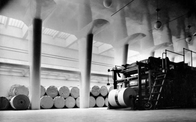 Turun-Sanomien-toimitalo-painosali-1928-1930-kuva-Gustaf-Welin-alvar-aalto-museo