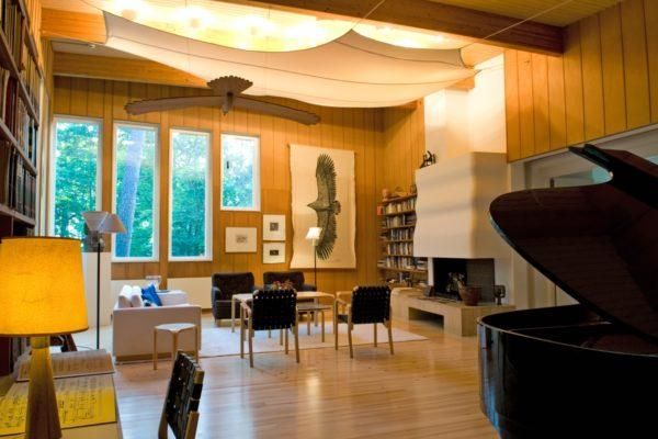 Villa Kokkonen was designed for the music. Photo: Mestart Ltd.