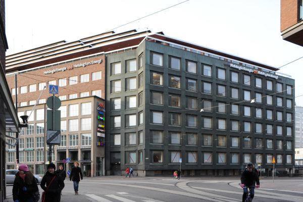 エネルギー社ビルはカンピ周辺の街並みの一部になっている。写真:Maija Holma(アルヴァ・アアルト財団)