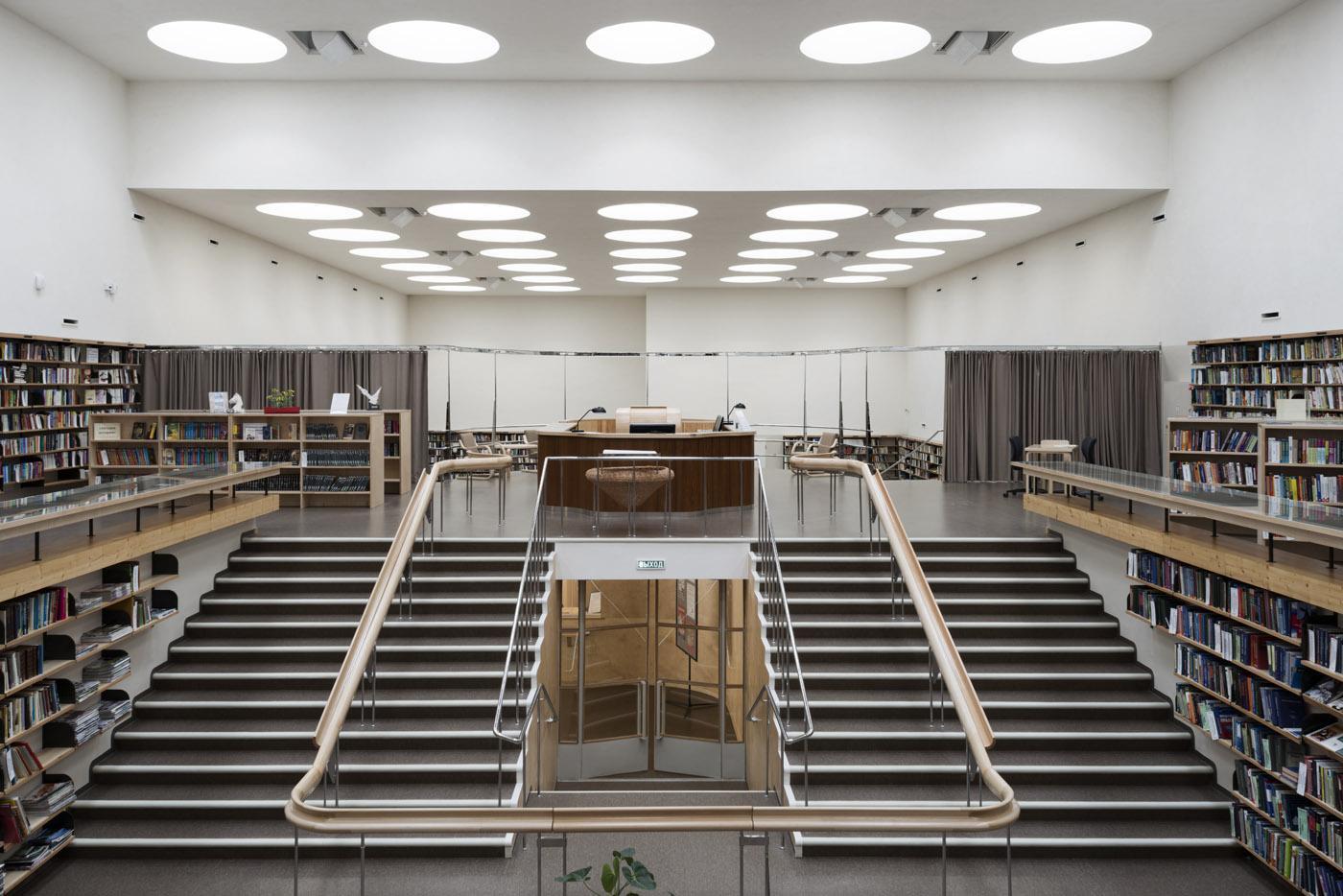 Vyborg library lending room