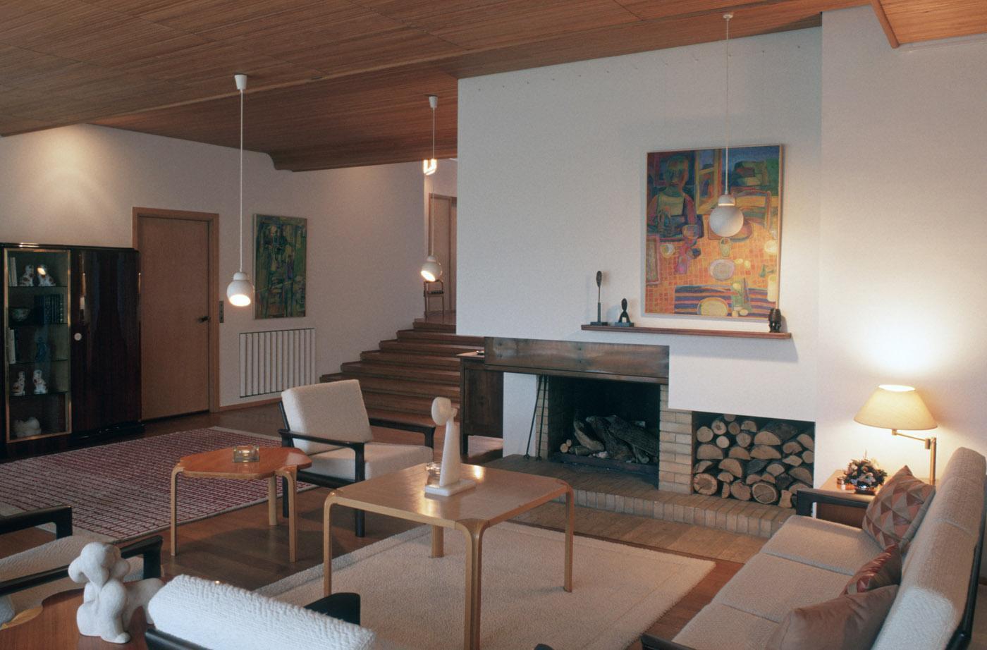 Maison Louis Carré's livingroom