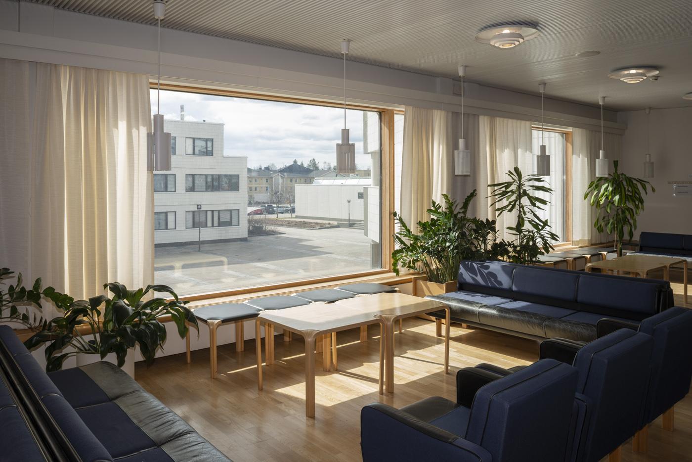 Rovaniemi town hall, 2nd floor lobby