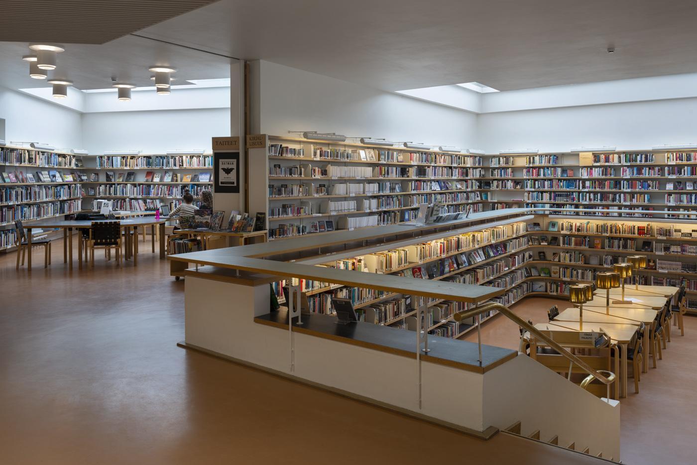 Rovaniemi City library, reading room