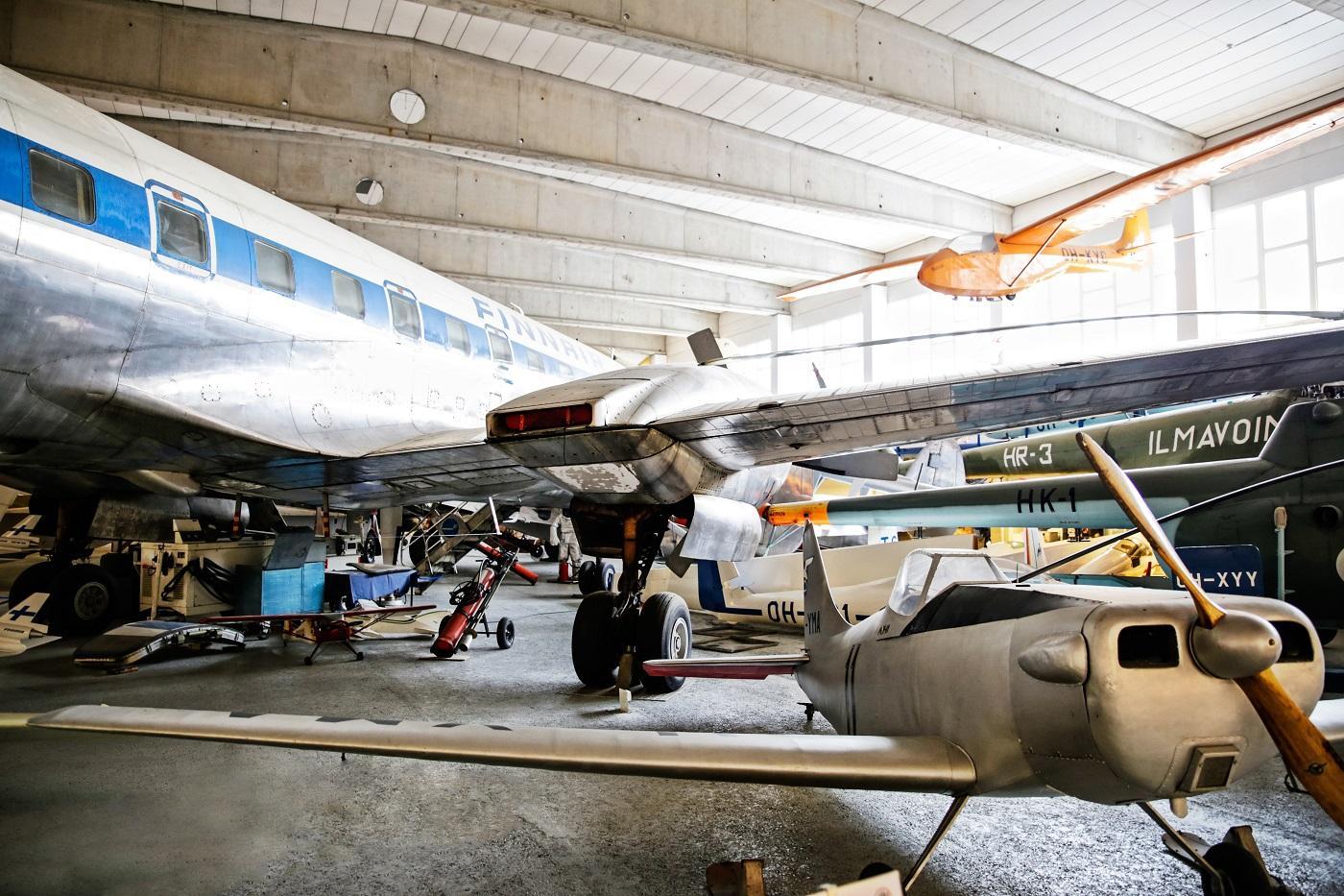 The exhibition hall, Finnish Aviation Museum Vantaa